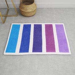 Blue & Purple Pattern Rug