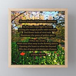 Flower Garden of Platinum Intention Poetry Art Framed Mini Art Print