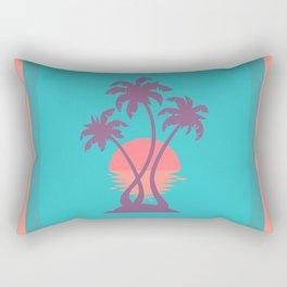 3 Palm Sunset Rectangular Pillow