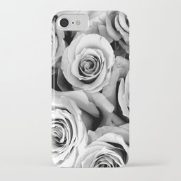 Black and White Roses iPhone Case