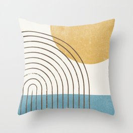 Sunny ocean Throw Pillow