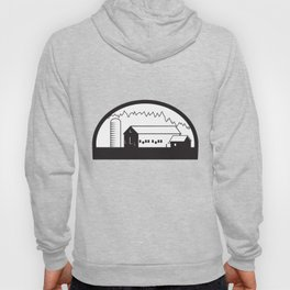 Farm Barn House Silo Black and White Hoody