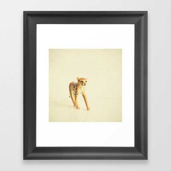 Catwalk Cheetah Framed Art Print