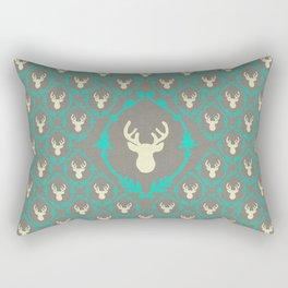 Oh Deer (white) Rectangular Pillow