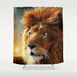 Lion face .King of beasts abstraction Shower Curtain