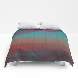Ombre Mountainscape (Sunset Colors) Comforters