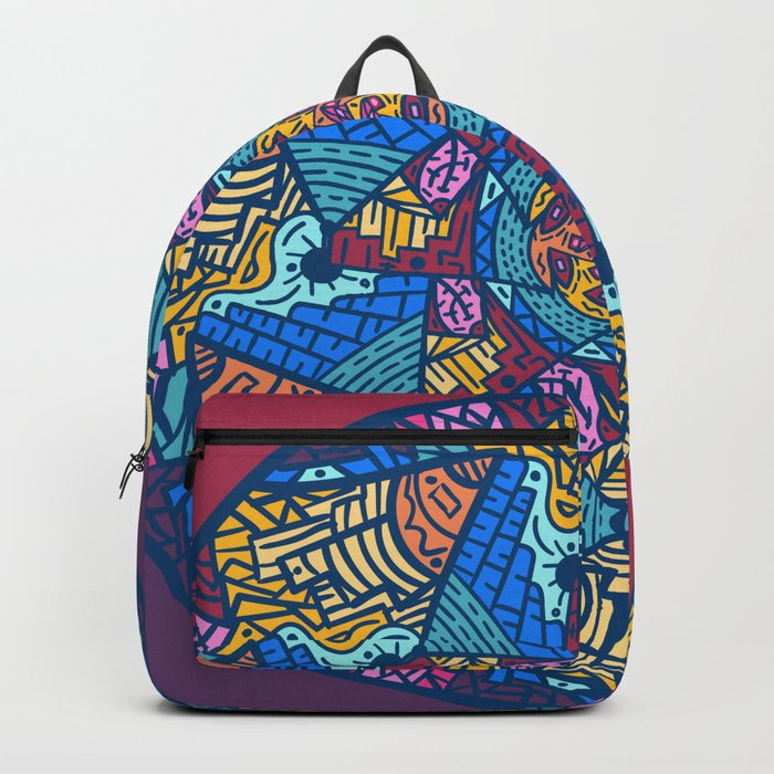 Mountain abstract mandala Backpack