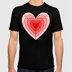 Heart target Mens Fitted Tee MEDIUM Black