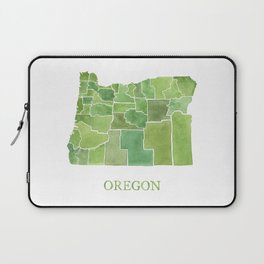 Oregon Counties watercolor map Laptop Sleeve