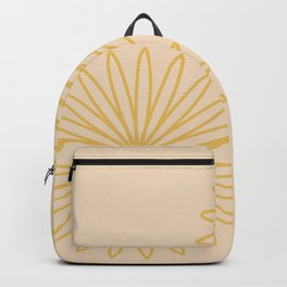Beige and Mustard Backpack