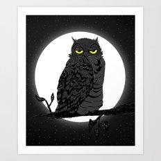 Night Owl V. 2 Art Print
