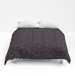 Violet Dark Brown Shambolic Bubbles Comforters