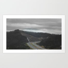 Lonely Highway Art Print