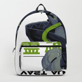 Space Gril Vaporwave Cyberpunk Kanji Pattern Urban Futuristic Style Backpack