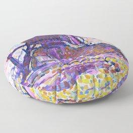 The Winkel Mill, Pointillist Version - Piet Mondrian Floor Pillow