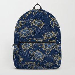 Japanese Pond Turtle / Dark Blue Backpack