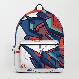 Robot Fighter Sacred Geometry Ornamental Backpack