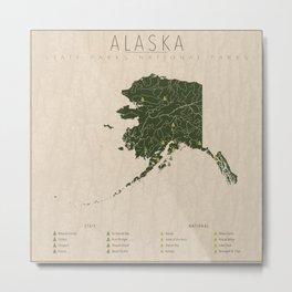Alaska Parks Metal Print