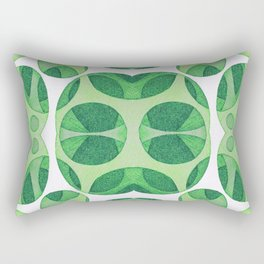 Green circle neuro web pattern Rectangular Pillow