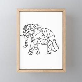 Elephant Geometry Pattern Art Framed Mini Art Print