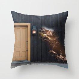 Cave myth Throw Pillow