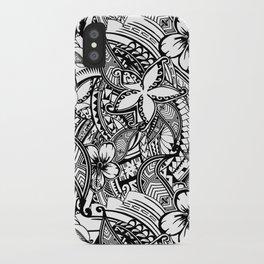 Hawaiian Polynesian Trbal Tatoo Print iPhone Case