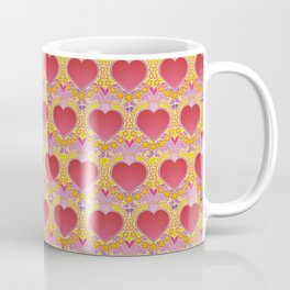 Peace and love pattern Coffee Mug