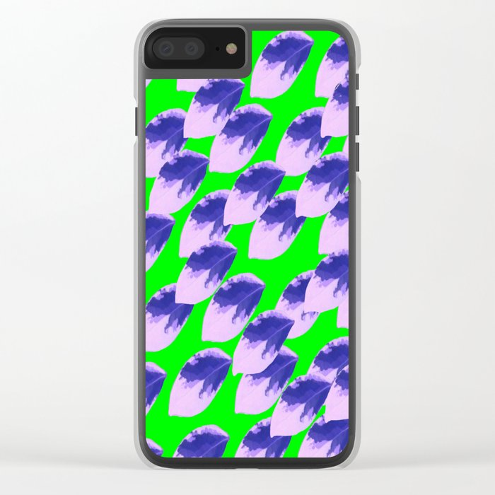 The Limeade Leaves Clear iPhone Case