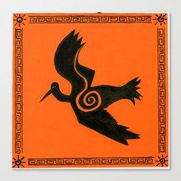 orange crane Canvas Print