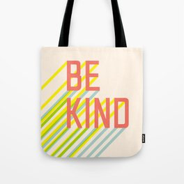 Be Kind typography Tote Bag