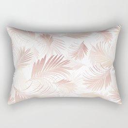Tropical Rose Gold Palms Pattern #1 #tropical #decor #art #society6 Rectangular Pillow
