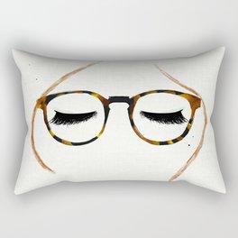 Tortoiseshell Glasses Red Rectangular Pillow