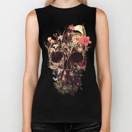 Bloom Skull Biker Tank