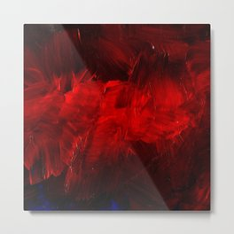 Red And Black Luxury Abstract Gothic Glam Chic by Corbin Henry Metal Print