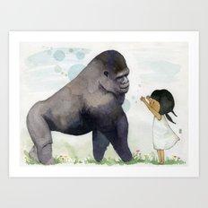 Hug me , Mr. Gorilla Art Print