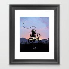 Ghost Rider Kid Framed Art Print