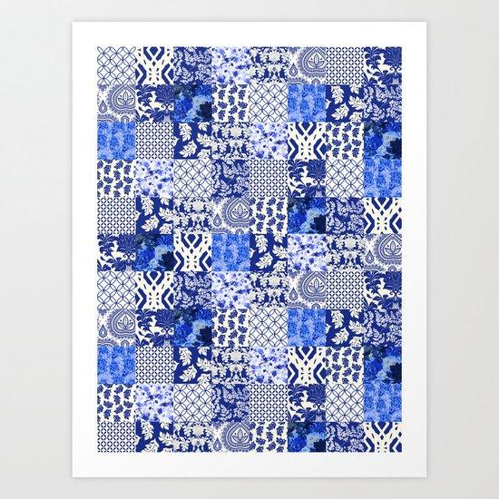 Blue Is Just A Mood Art Print