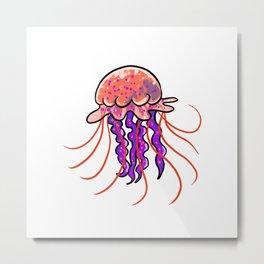 little jellyfish Metal Print