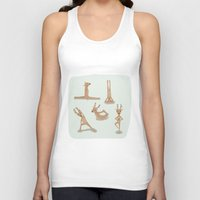 nirvana Tank Tops featuring Yoga deer attain nirvana by Shawn Carney Art