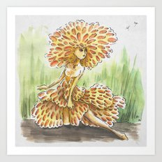 Empire of Mushrooms: Favolaschia calocera Art Print