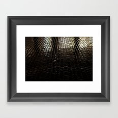 cobbled rain I. Framed Art Print