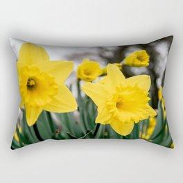 Daffodils in spring Rectangular Pillow