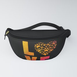 Heart Dog Paws Cute Gift For Animal Rescue product Fanny Pack