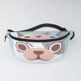 French Bulldog and Flowers Fanny Pack