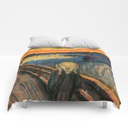 The Scream Edvard Munch Restored Comforters