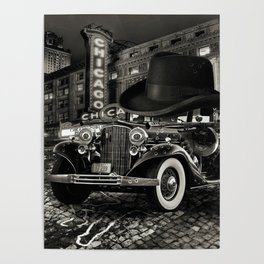 Don Cadillacchio Black and White Poster