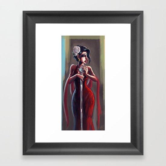 Lady Sing the Blues Framed Art Print
