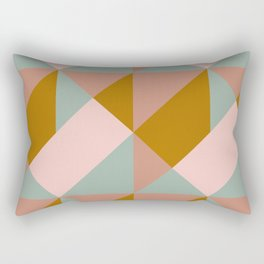 Modern Boho Geometric Pattern Rectangular Pillow