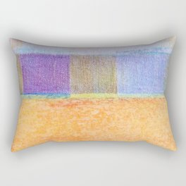 Amber and Mauve Square Collage Rectangular Pillow