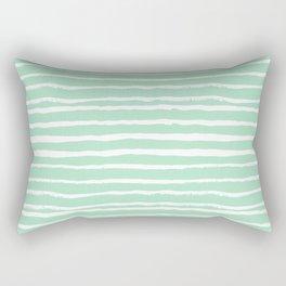 Mint stripes painted stripe pattern minimal nursery gender neutral Rectangular Pillow